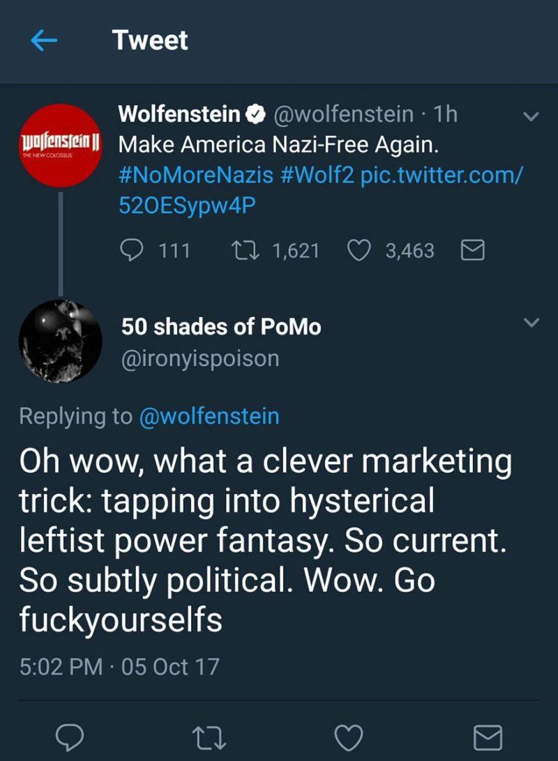 wolfenstein leftist power fantasy