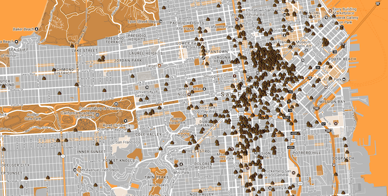san francisco poop map san francisco poop patrol