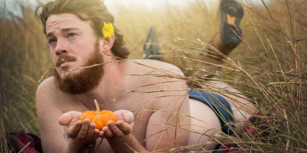 This Guy's Sexy Photos Show What Happens When Your Pumpkin Spice Addiction Goes Too Far