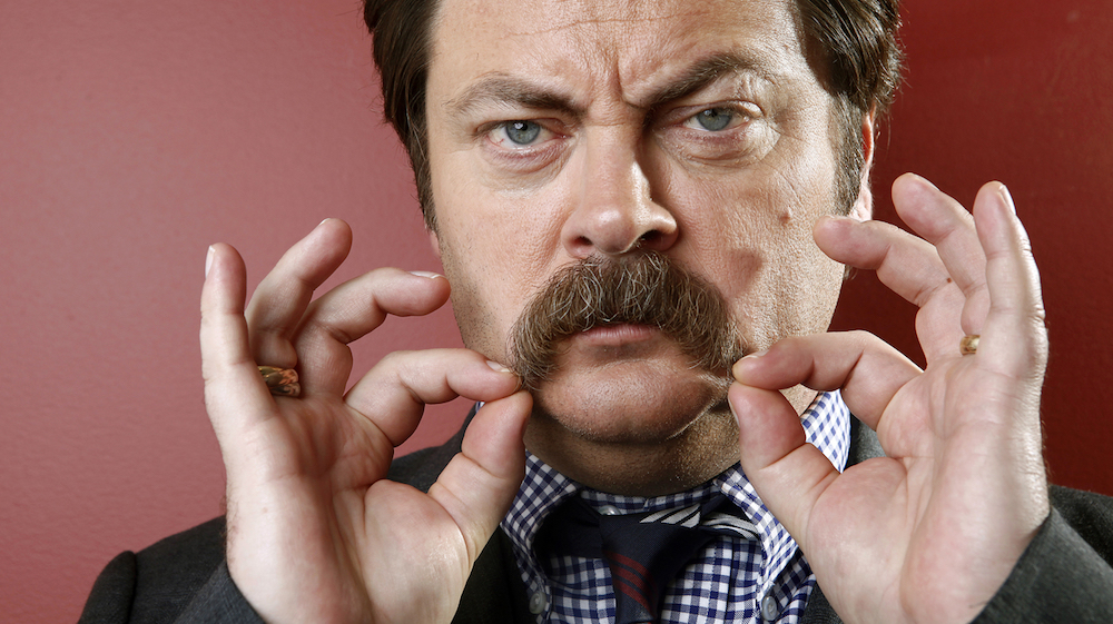 best mustaches offerman