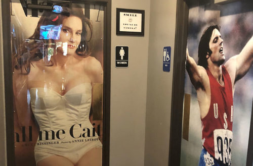 Caitlyn Jenner bathroom signs