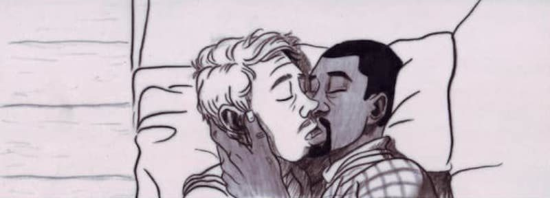 back at dawn comic kiss