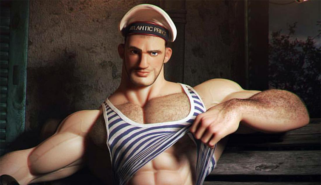 Conheça o artista Francês e seus desenhos 3D de homens deliciosos (NSFW)