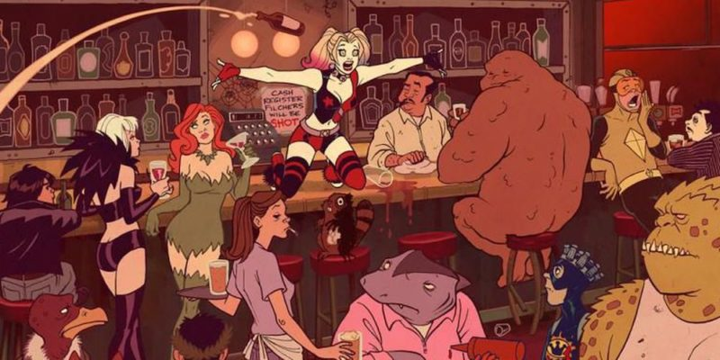 Harley Quinn show swamp thing dc universe dc streaming channel