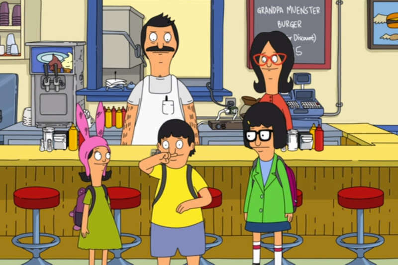 bob's burgers golden girls cafe