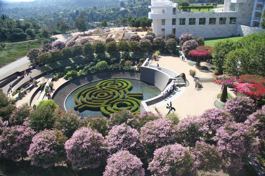 getty center gardens LA itinerary