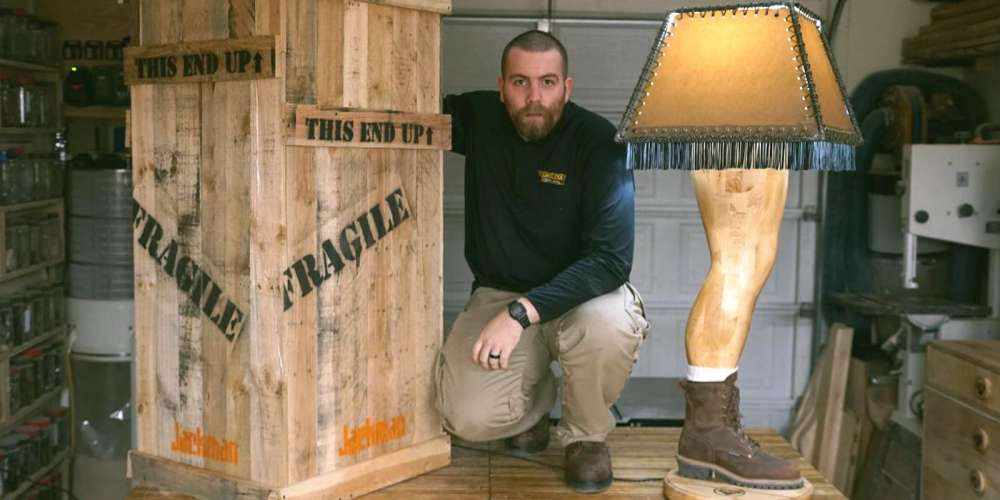 This Hunky Handyman Made a Male Version of the 'Christmas Story' Leg Lamp (Video)