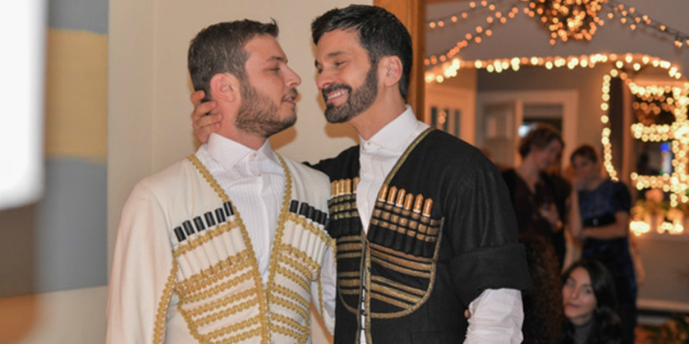 These Two Men Defied Homophobic Georgian Culture by Marrying in the Country's Traditional Garb