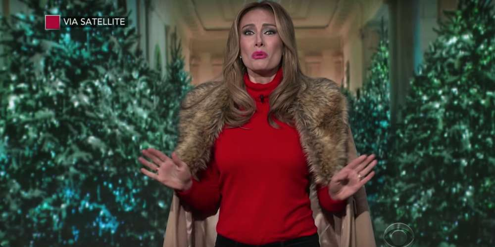 Watch Melania Trump Decorate (and Try to Escape) the White House in This Funny Sketch
