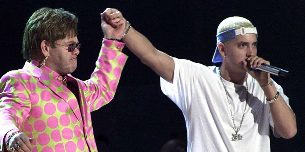 Eminem Gifted Elton John a Diamond Encrusted Sex Toy For His Wedding (Video)