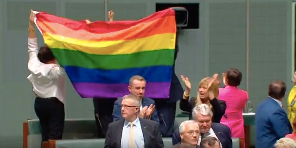 Public Viewers in Parliament Burst Into Song as Australia Legalizes Marriage Equality (Video)