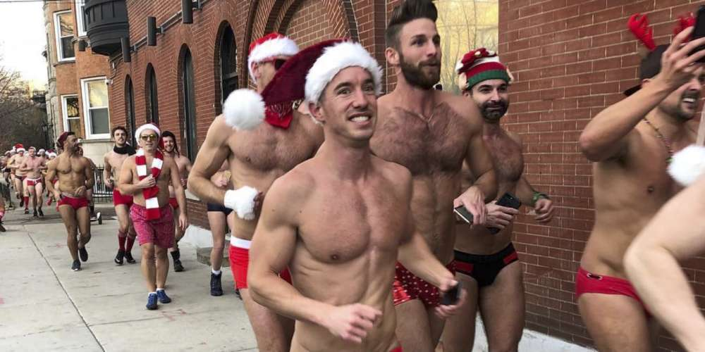 These Sexy Santa Speedo Run Participants Will 'Sleigh' You With Their Big Packages