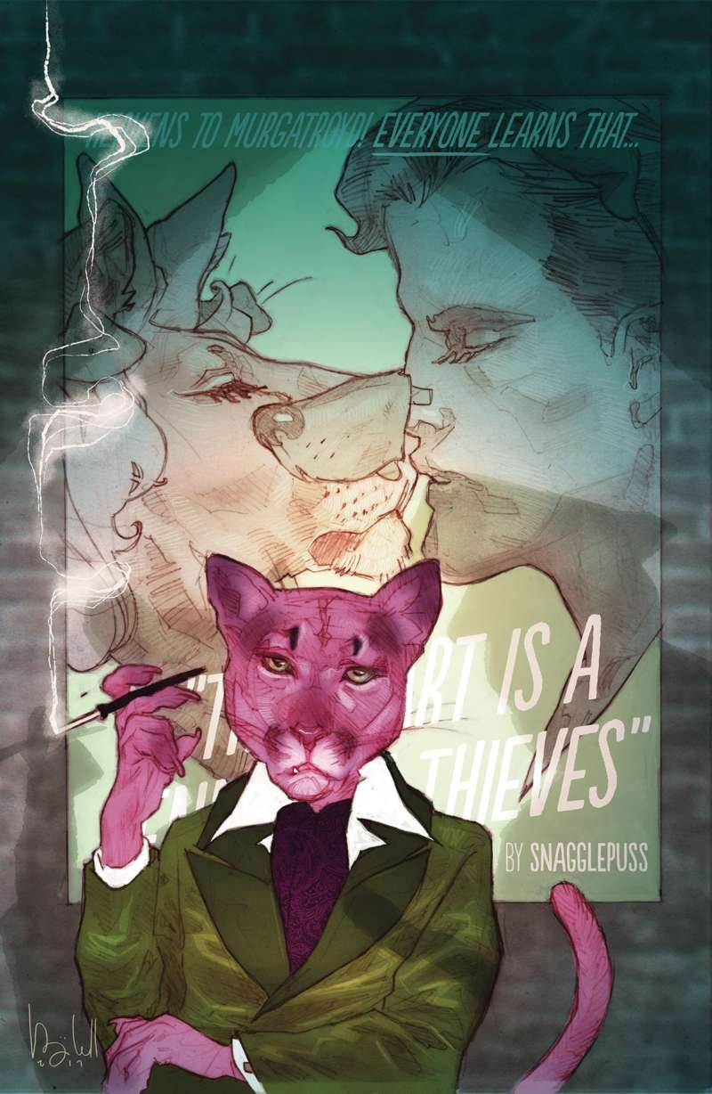 snagglepuss comic cover issue 2