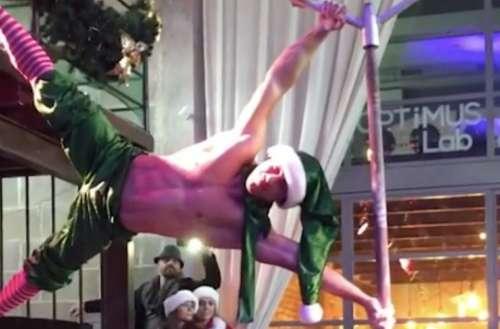 elf pole dancer
