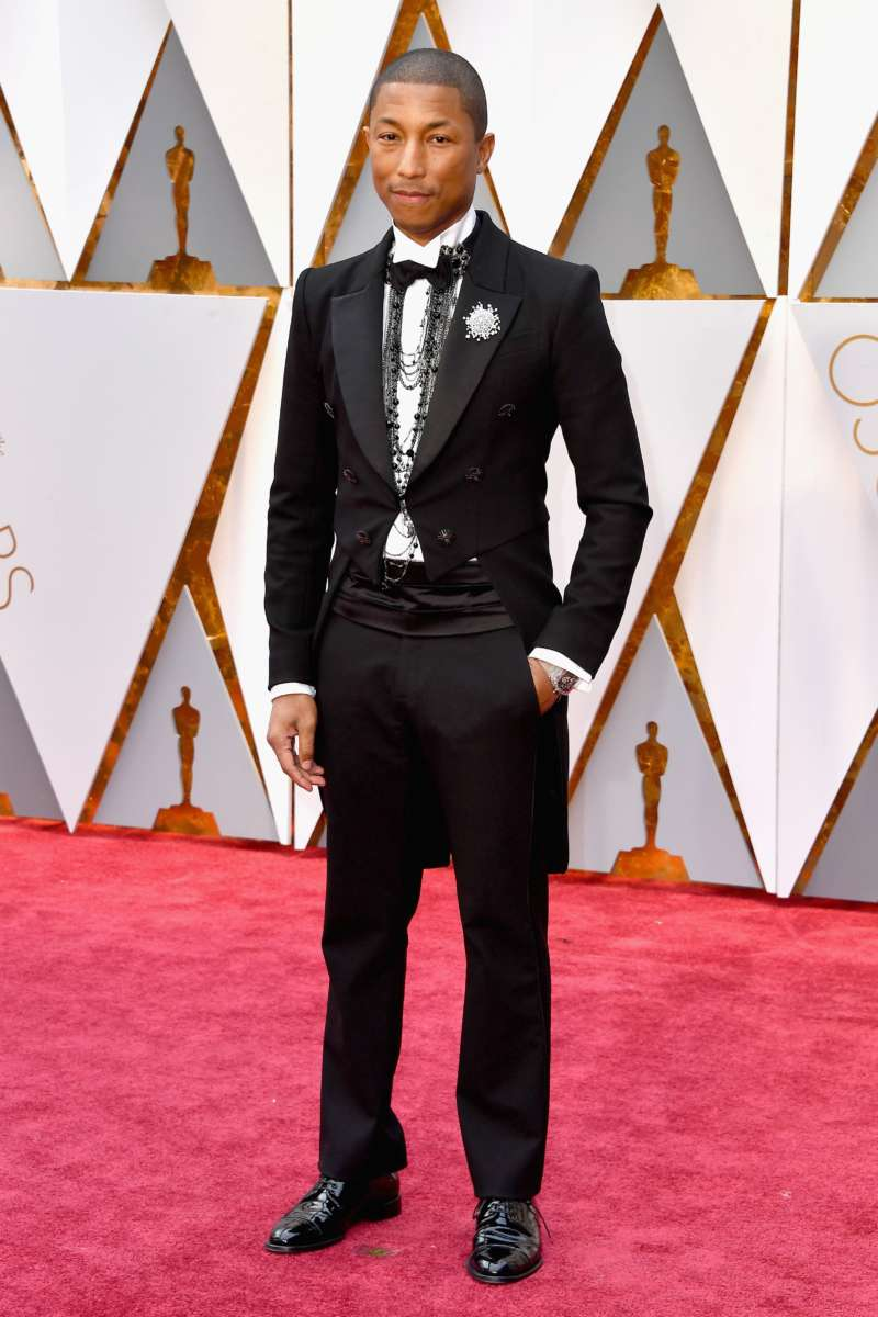 red carpet looks pharrell best dressed oscars