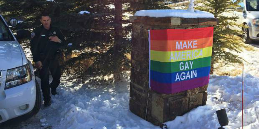 Mike Pence's Aspen Neighbors Troll Him Hard With a 'Make America Gay Again' Pride Flag