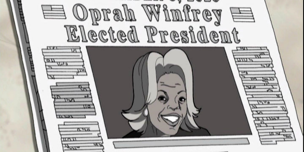 12 Years Ago, 'The Boondocks' Predicted an Oprah Winfrey Presidential Win in 2020
