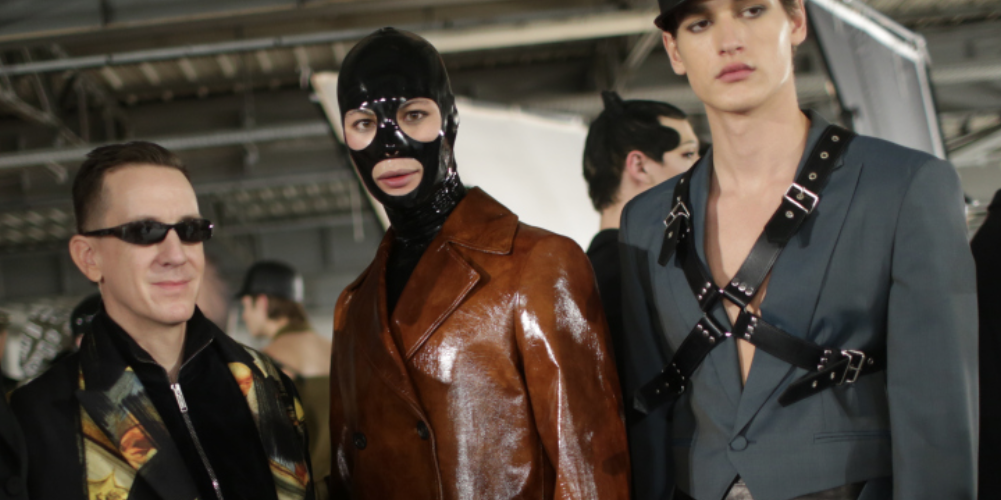 Drool Over Our Favorite Fetish-Inspired Looks From the Moschino Fall 2018 Menswear Show