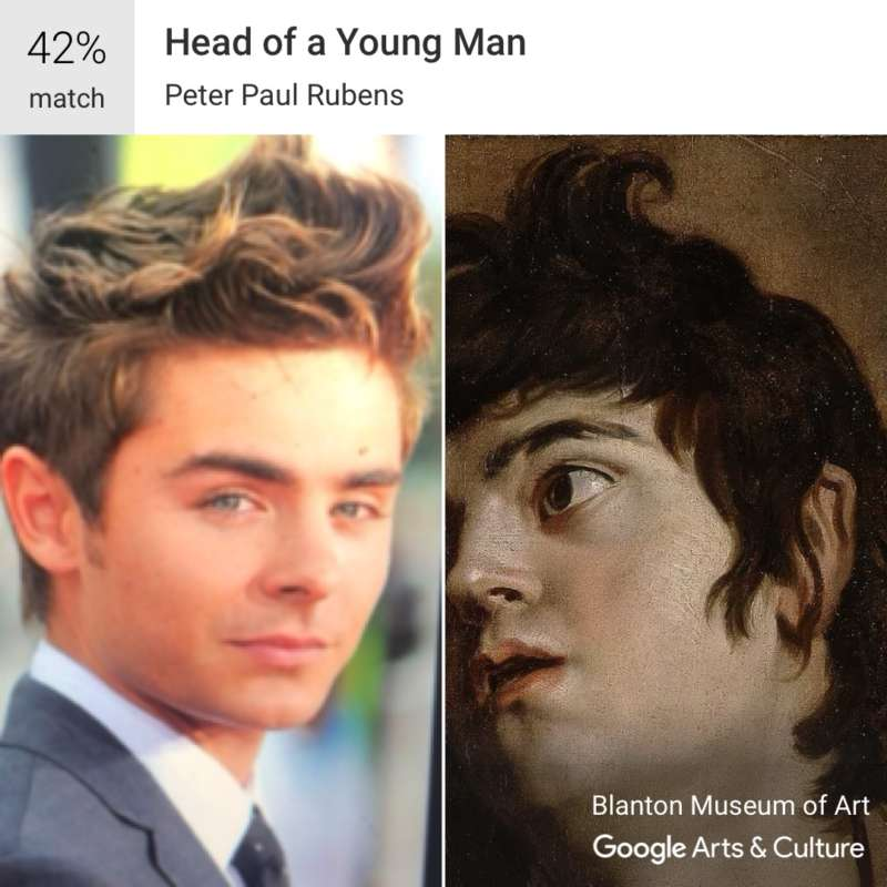 google arts and culture zac efron