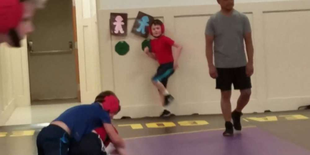Could This Kid Dancing During Wrestling Practice Be the Next George Michael?