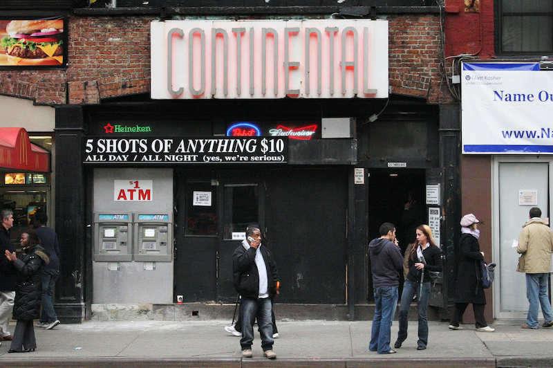 Continental bar literally
