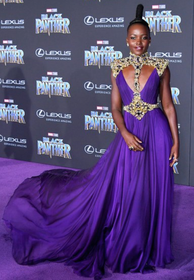 black panther premiere red carpet lupita