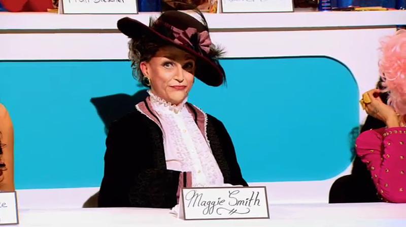 Ben De La Creme as Dame Maggie Smith best snatch game