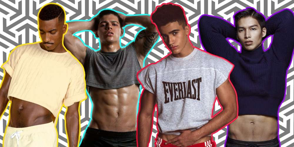 crop tops for men the internet is ablaze in debate over its comeback