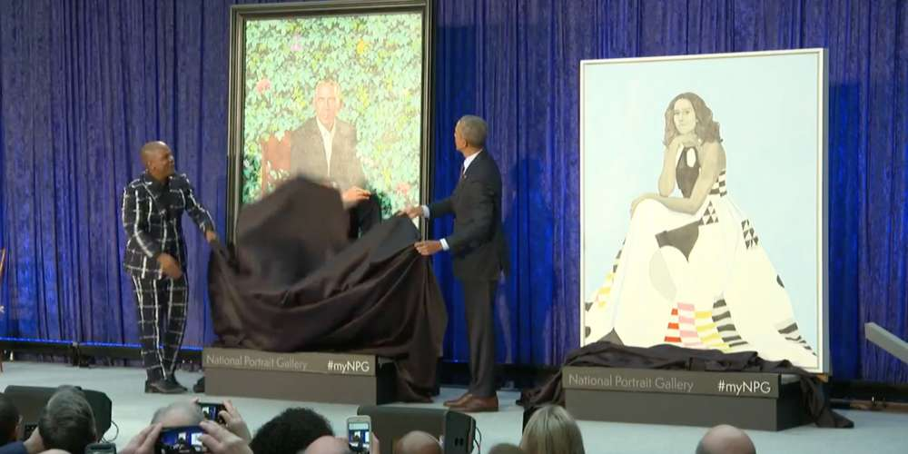 The Just-Revealed Official Obama Portrait Was Painted by Gay Black Artist Kehinde Wiley