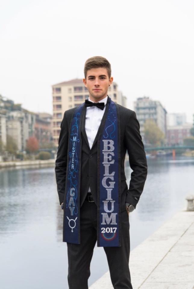 Mr Gay Belgium award scarf
