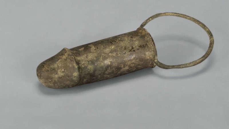 penis heykeli bronze