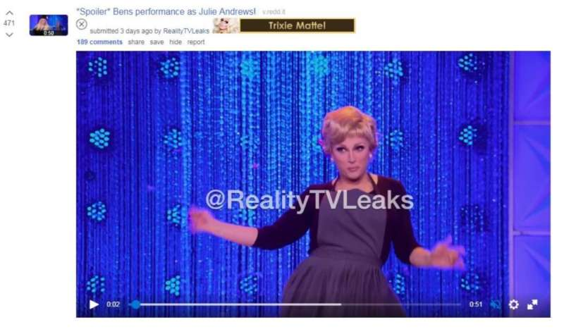 rupaul's drag race leaks ben