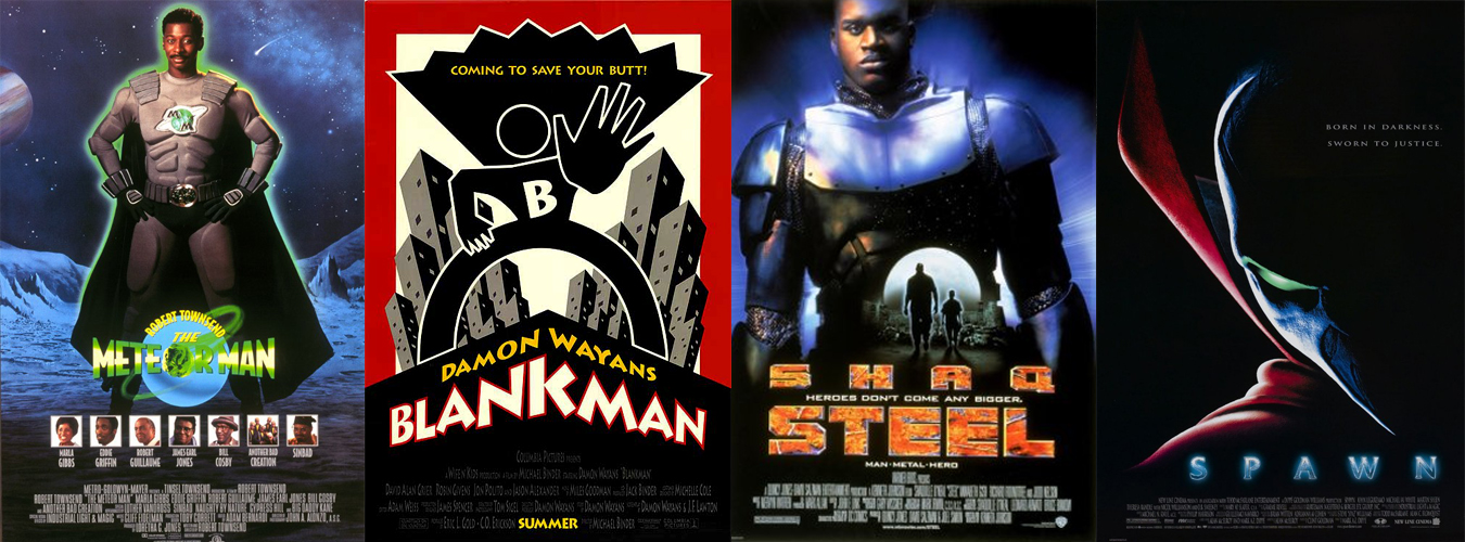 movies starring black superheroes posters