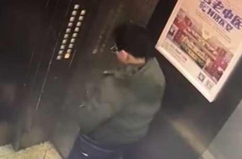 elevator piss video
