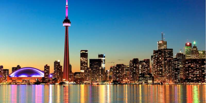 gay travel destinations canada toronto skyline