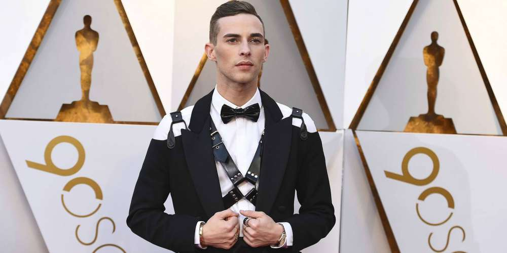 Adam Rippon Just Burned Up the Oscars Red Carpet in a Leather Harness