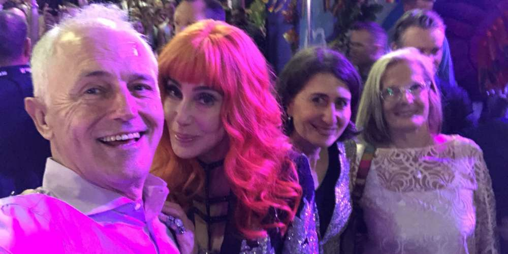 Cher Took a Picture With the Aussie PM at Sydney Gay Mardi Gras, and Her Fans Weren't Happy