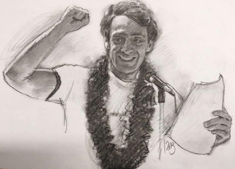 harvey milk comic book drawing Chuck Rozanski