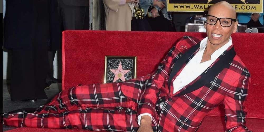 """Así Fue la Develación de la Estrella de RuPaul en """"El Paseo de la Fama"""" y Presentada por Jane Fonda"""