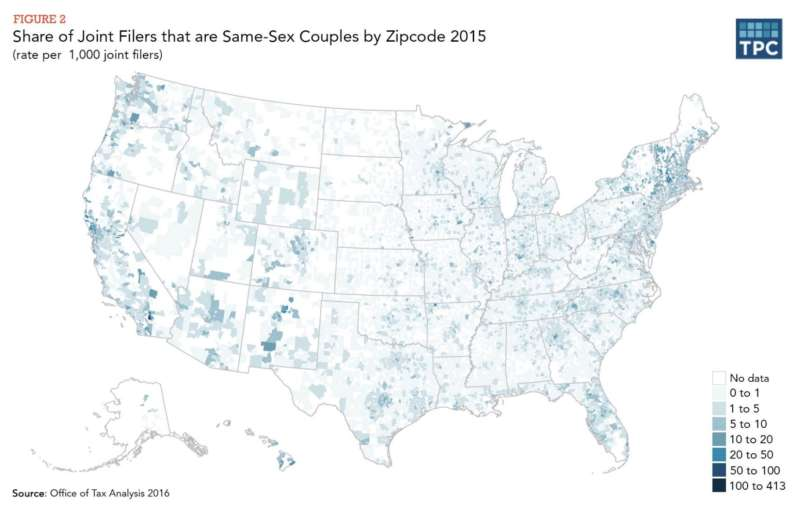 most gay marriages map