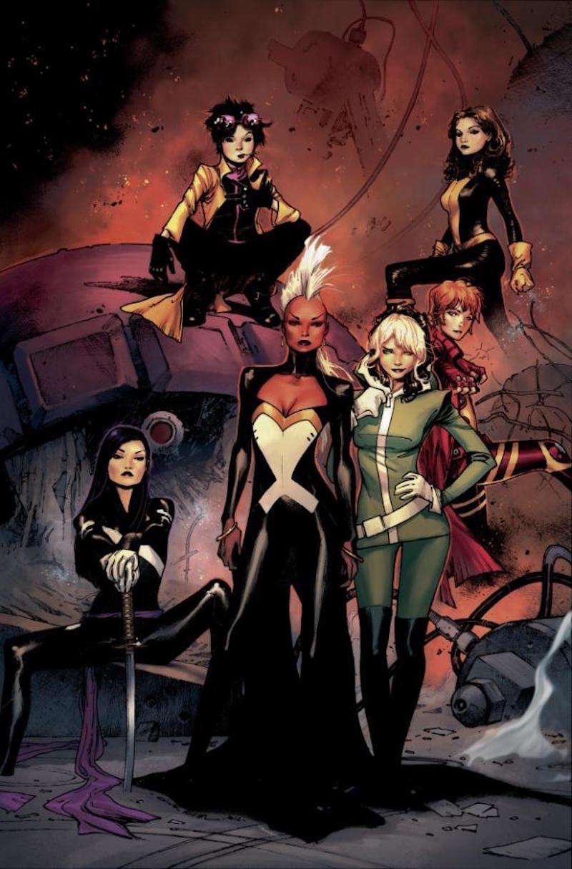 All-girl X-Men Group, girl superhero groups 03, female superhero groups 03