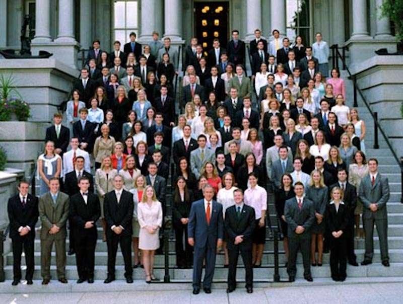 white house interns george w. bush