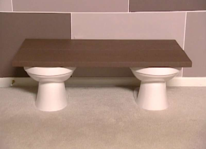 trading spaces toilet table