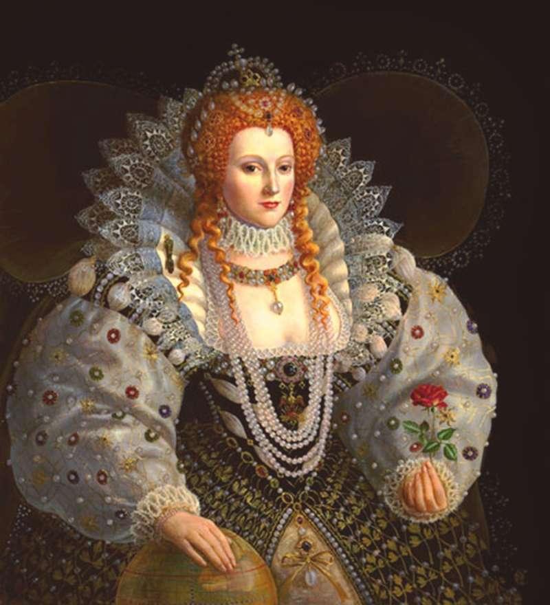 queen elizabeth i pinke pink yellow