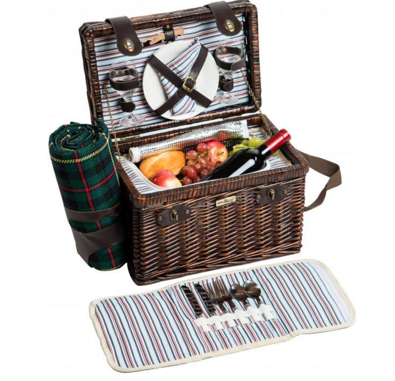 romantic night picnic basket