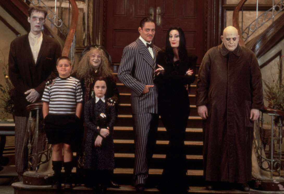 comic book movies addams family