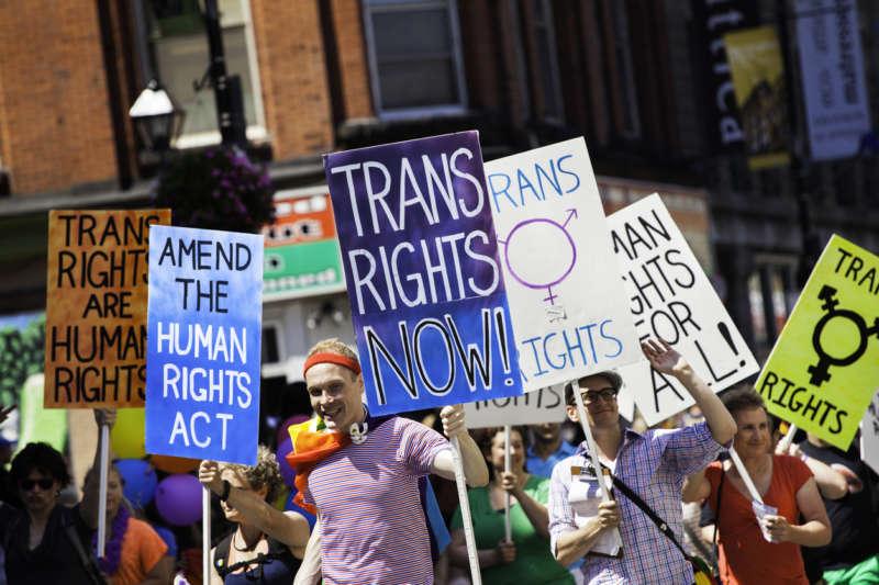 transgender health care discrimination 01, transgender protest, transgender protestors, trans protestors, trans protest