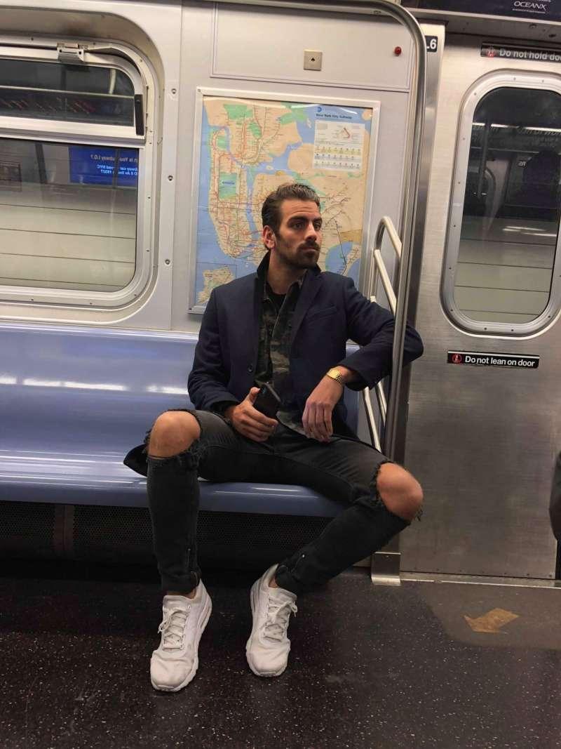 photos of Nyle DiMarco subway