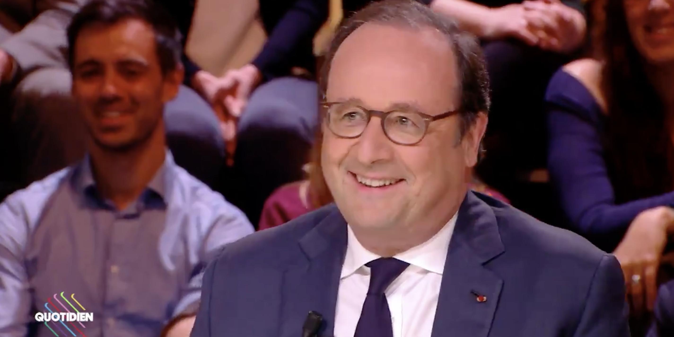 «Emmanuel Macron est passif dans le couple», la drôle de blague de François Hollande à propos de Macron et Trump