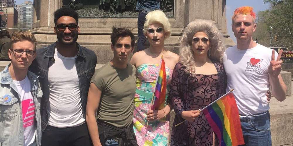 Queer Celebs Including Milk and Tyler Oakley Speak Out in NYC Against Chechnya Violence